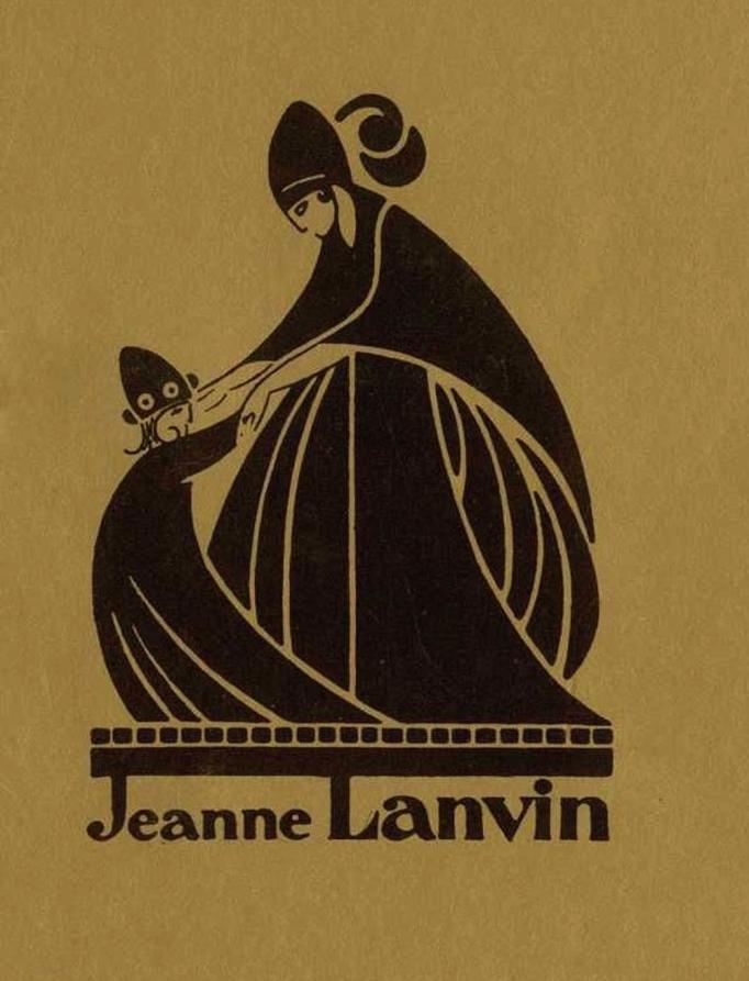 Знаменитый логотип Lanvin, созданный по образу портрета Жанны и Мари-Блашн художником Полем Ирибом