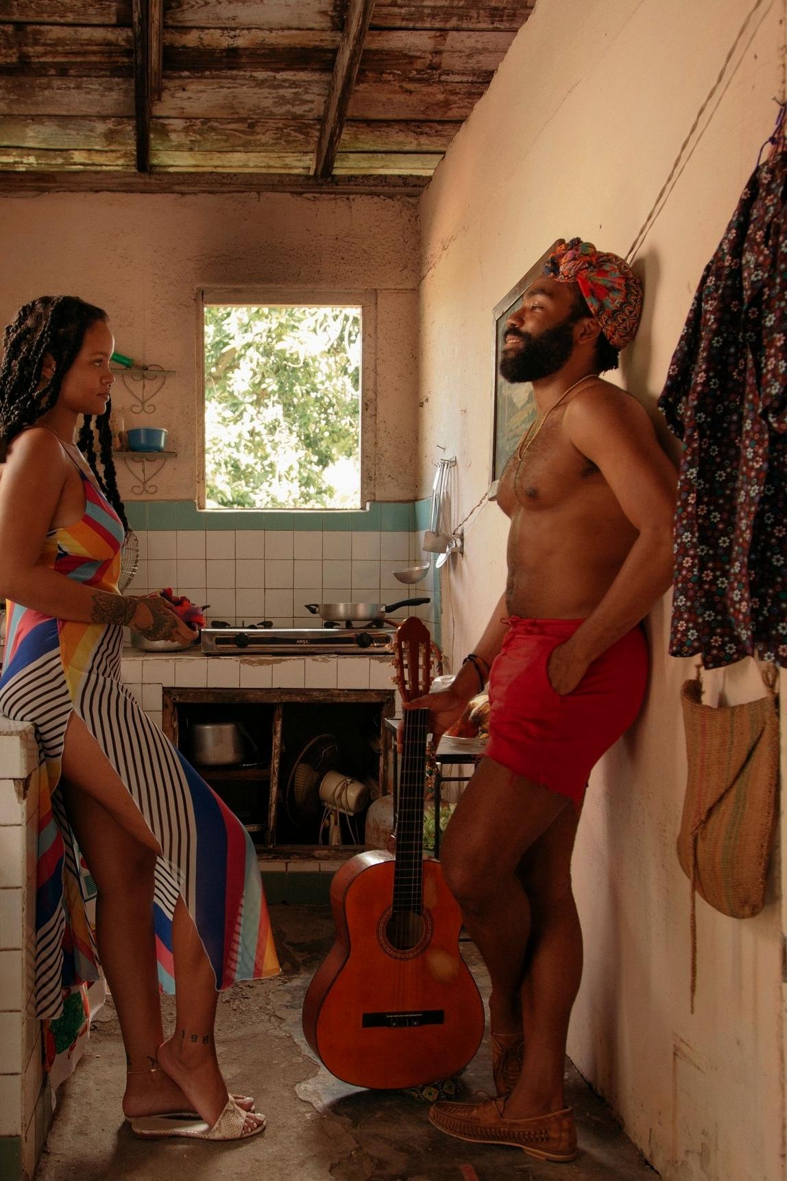 За кадром фильма «Guava Island» с Дональдом Гловером и Рианной