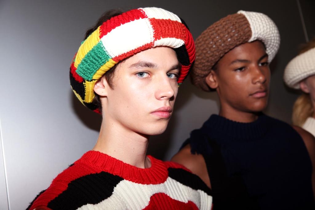Головной убор из коллекции JW Anderson Spring/Summer 2020 Menswear