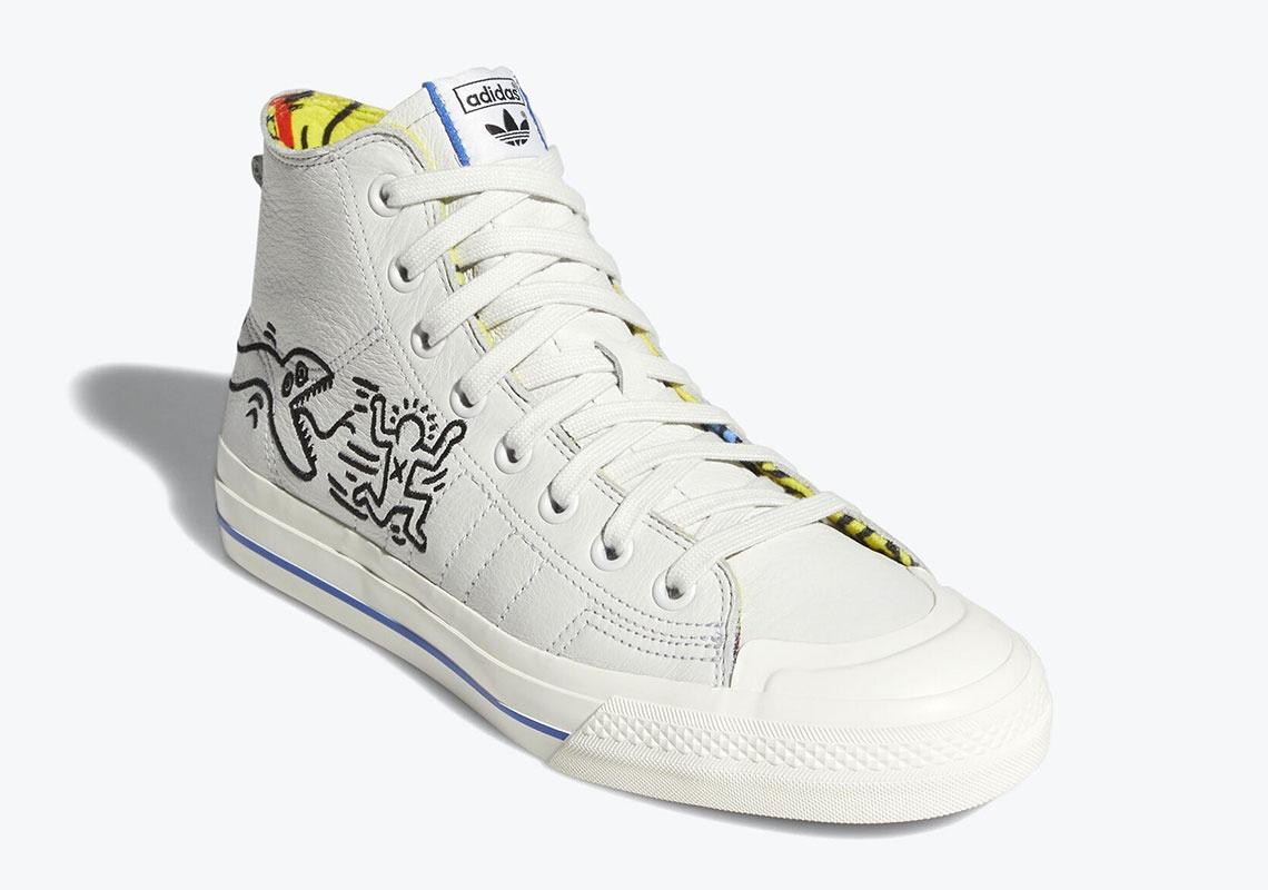 Keith Haring x adidas Nizza Hi