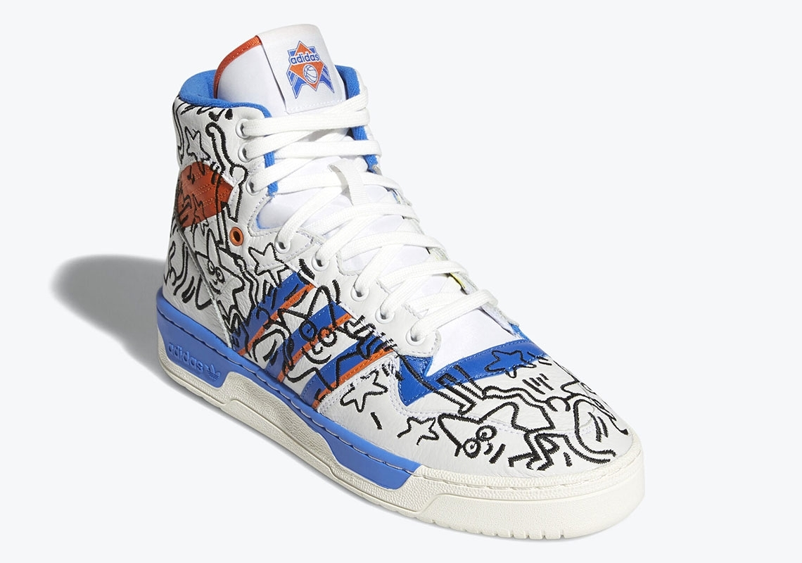 Keith Haring x adidas Rivalry Hi
