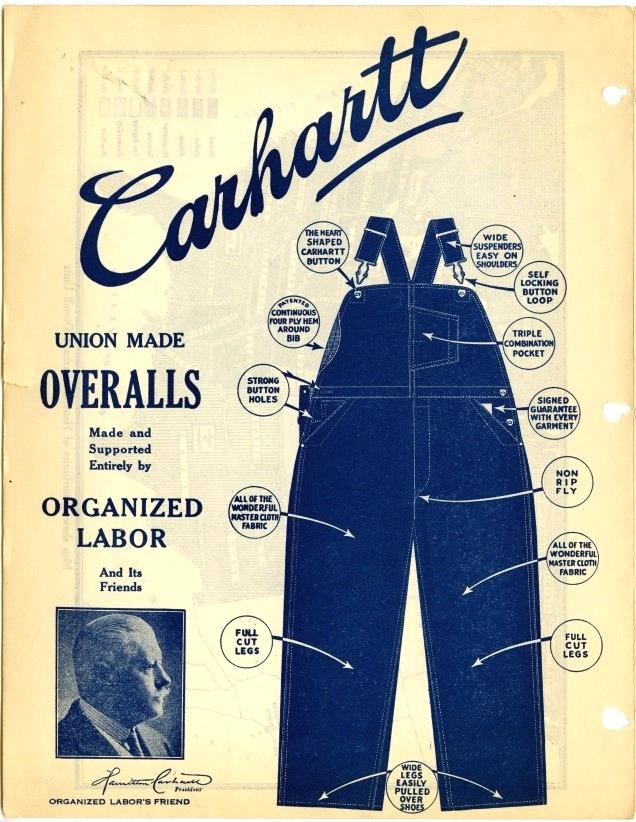 Рекламный плакат Carhartt 20-х годов - История бренда Carhartt