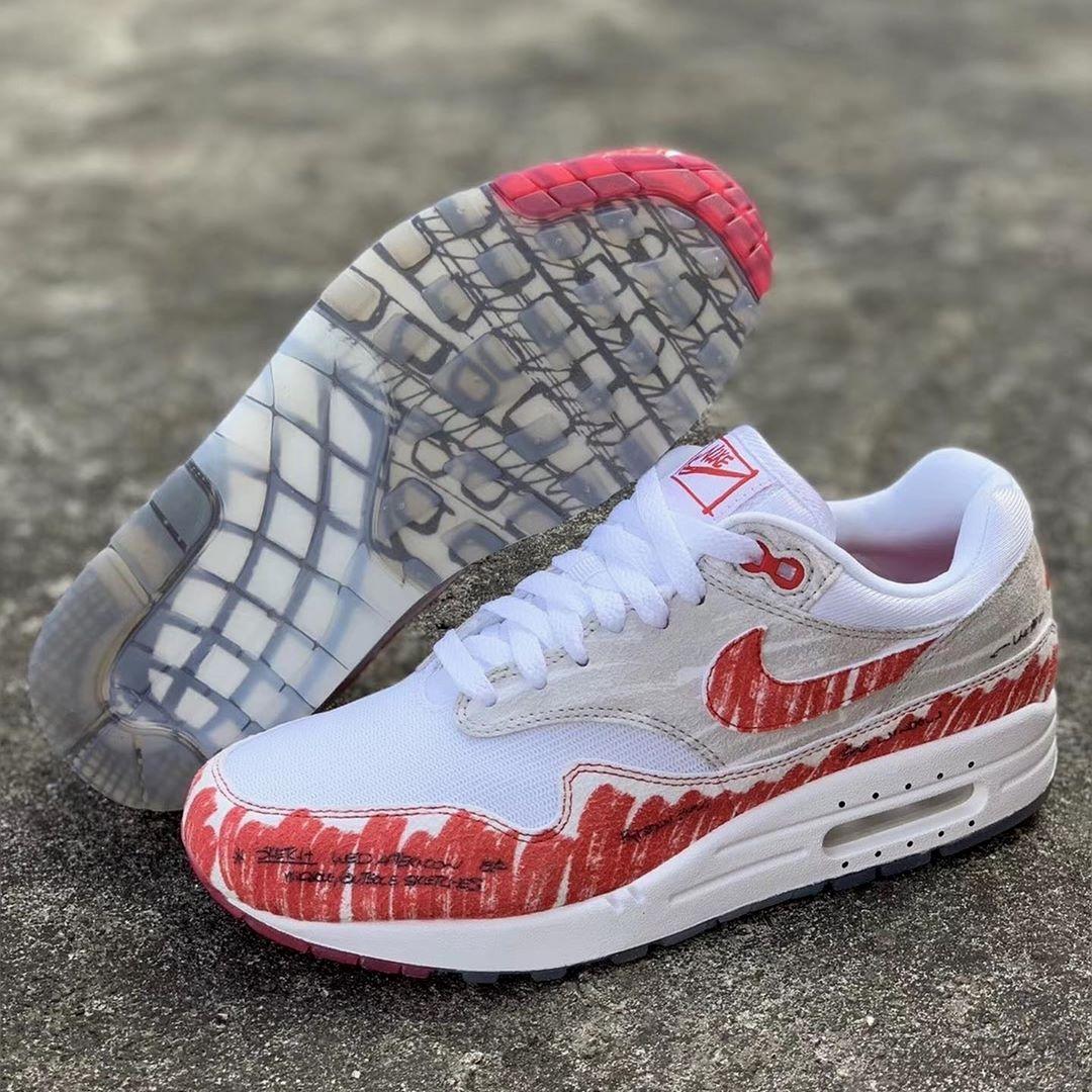 Nike Air Max 1, вдохновленные эскизом Тинкера Хэтфилда
