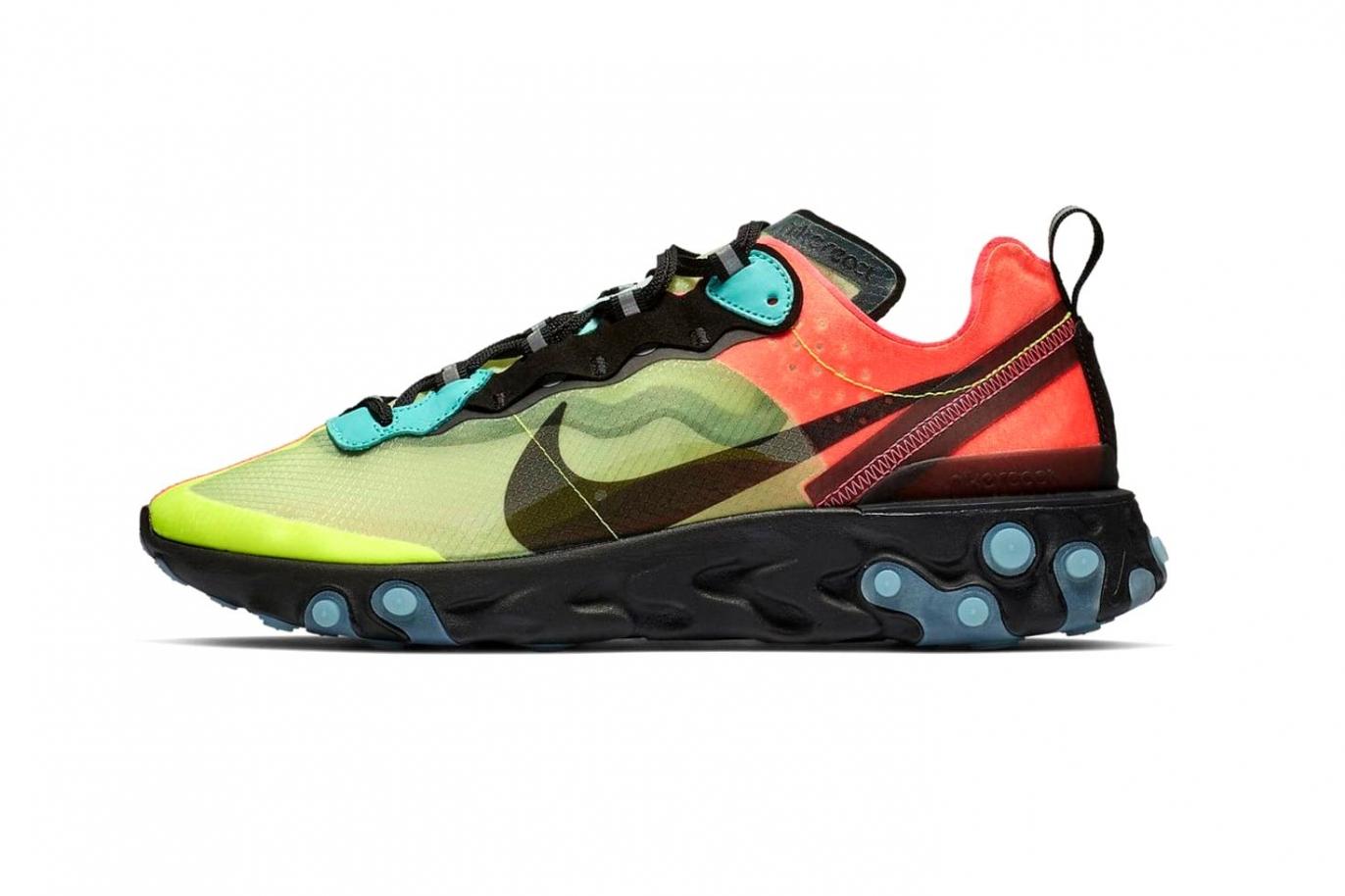 Nike React Element 87 «Volt/Racer Pink»