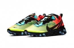 Nike React Element 87 «Volt/Racer Pink» и «Light Orewood»