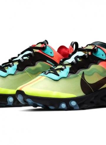 Nike React Element 87 «Volt/Racer Pink» и «Light Orewood»