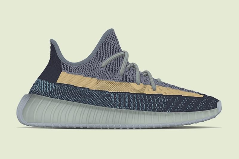 adidas Yeezy Boost 350 V2 «Ash Blue» - релиз 2021 года