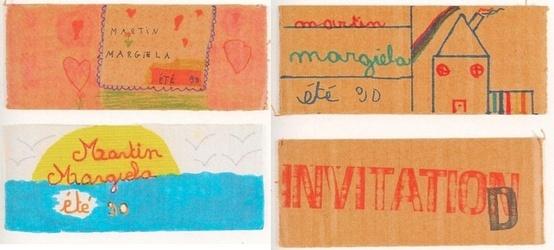 Приглашение Maison Margiela 1989