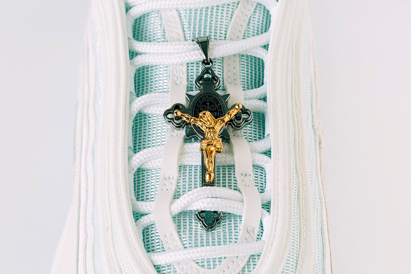 MSCHF x INRI Nike Air Max 97 Jesus Shoes