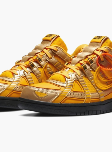Off-White x Nike Air Rubber Dunk «University Gold»