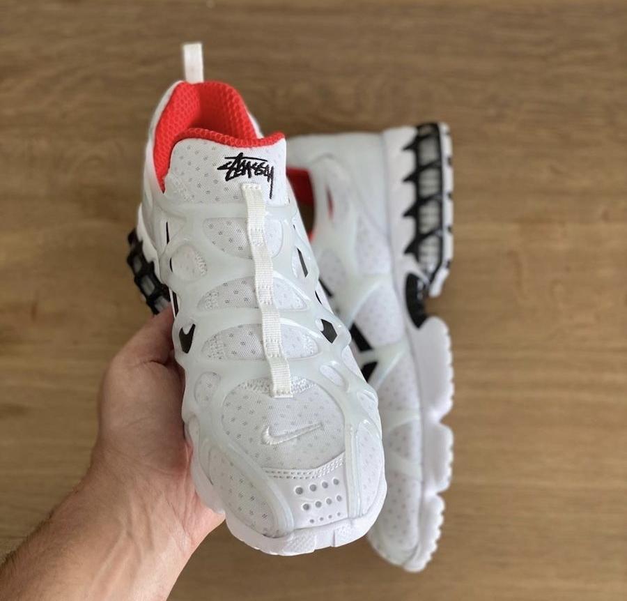 Stussy X Nike Air Zoom Spiridon KK Habanero Red