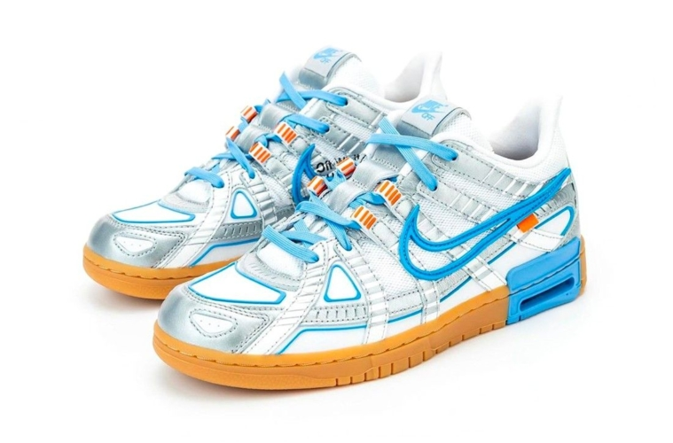 Off-White x Nike Air Rubber Dunk «University Blue» первый взгляд