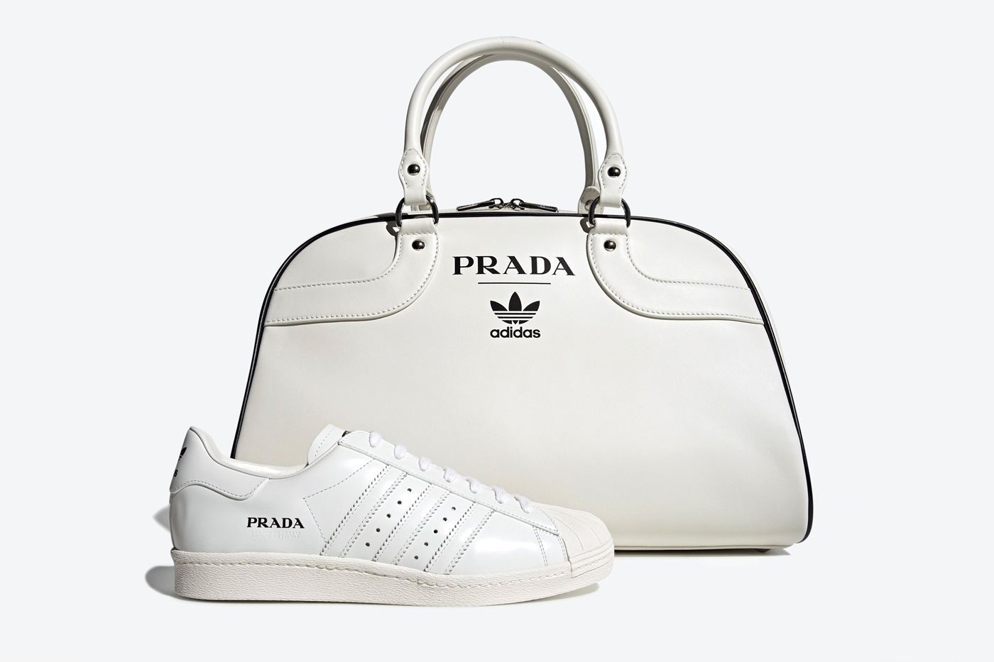 Prada x adidas Superstar и Bowling Bag Set
