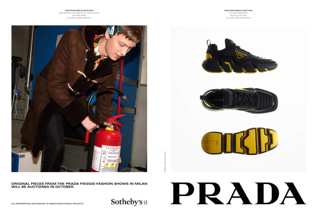 Prada x Sotheby's - благотворительный аукцион в рамках кампании бренда