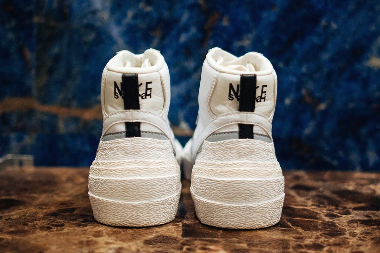 sacai x Nike Blazer Mid «White/Grey»