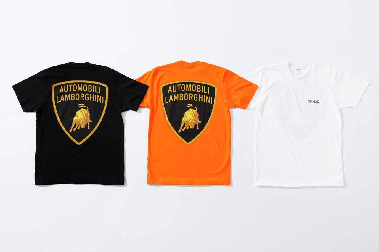 Футболки Supreme x Automobili Lamborghini Spring/Summer 2020