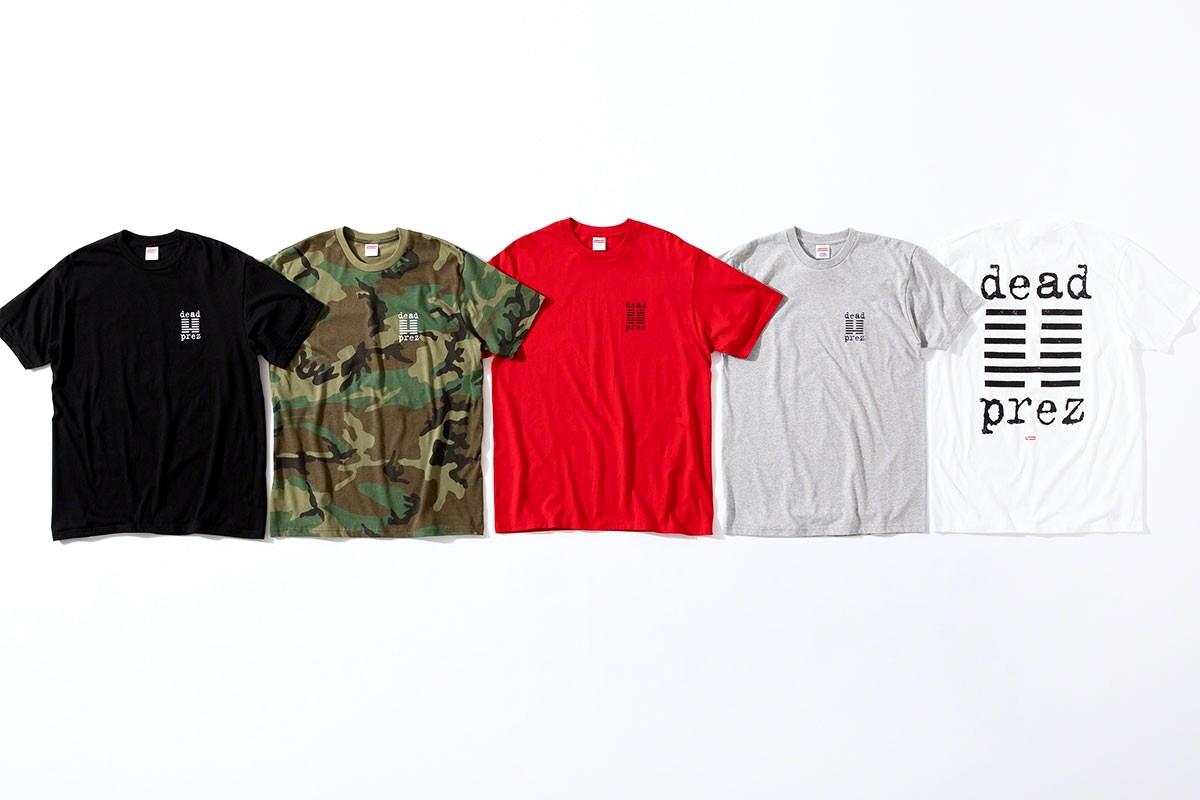 Supreme x dead prez футболки