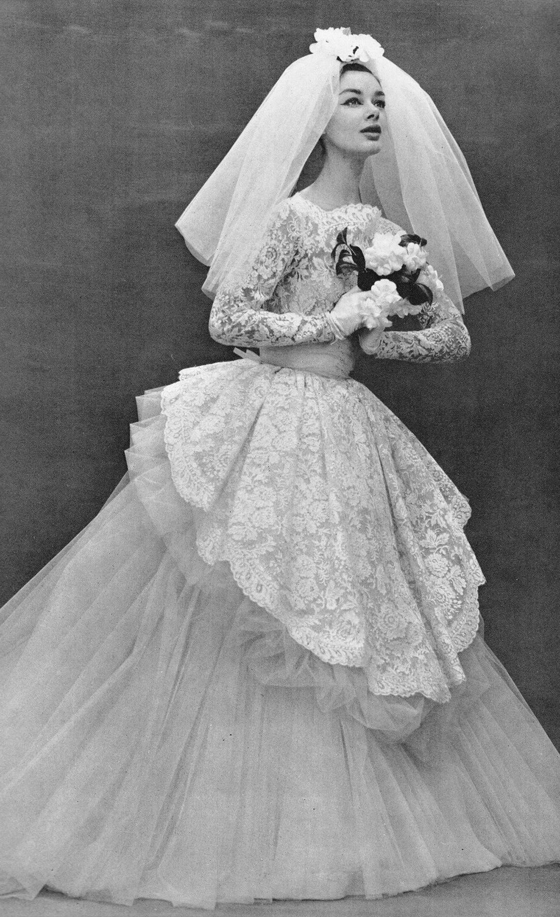 Свадебное платье Nina Ricci, 1957
