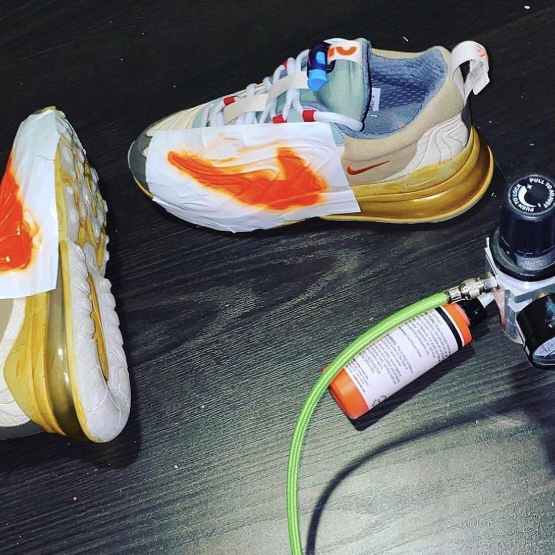 Travis Scott x Nike Air Max 270 React выйдут с DIY-набором