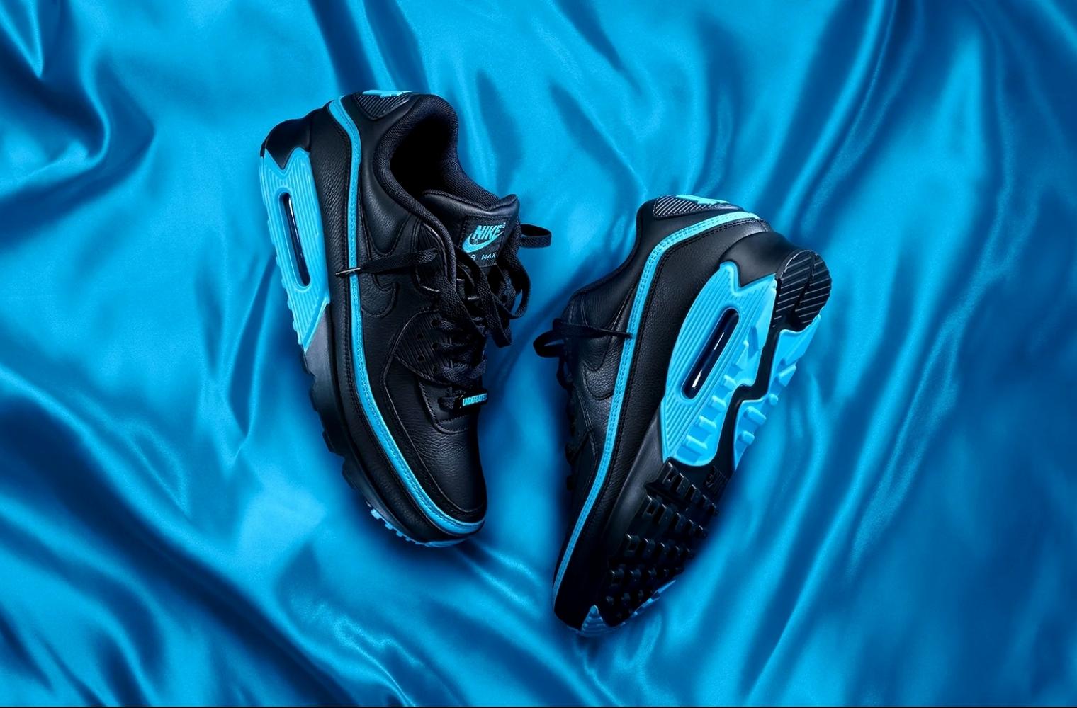 Черно-синие UNDEFEATED x Nike Air Max 90