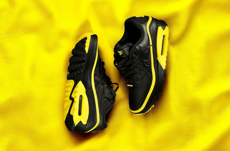 Черно-желтые UNDEFEATED x Nike Air Max 90