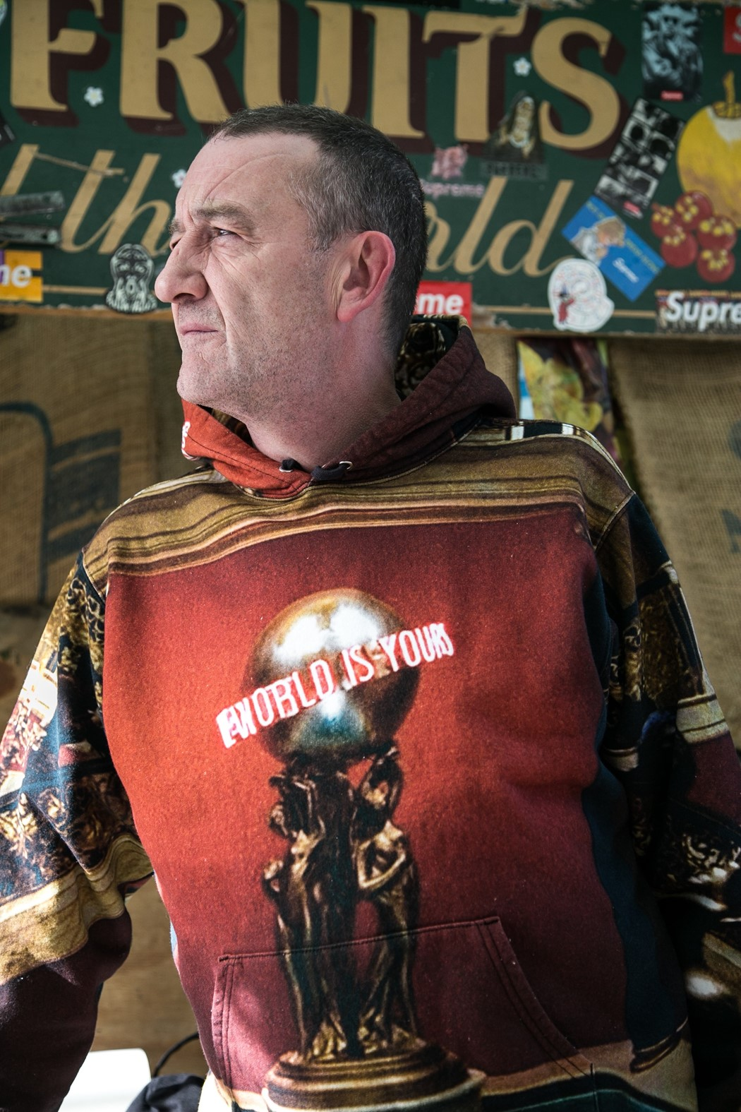 Meet London's 57-year-old fruit seller decked out in all the latest Supreme Lance Walsh Dazed Interview