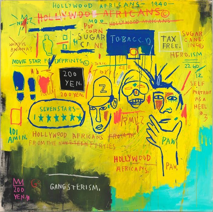 Жан-Мишель Баския, «Голливудские африканцы», 1983 год. С разрешения Музей американского искусства Уитни © Общество прав художников, Нью-Йорк/ ADAGP, Париж