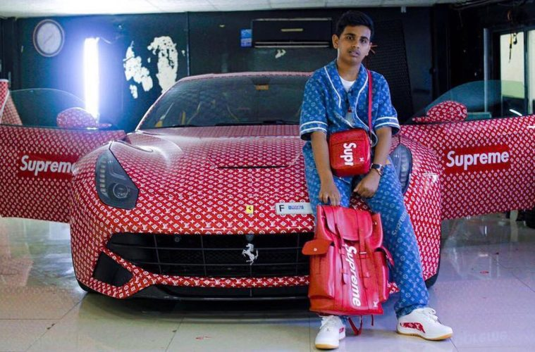 supreme louis vuitton ferrari