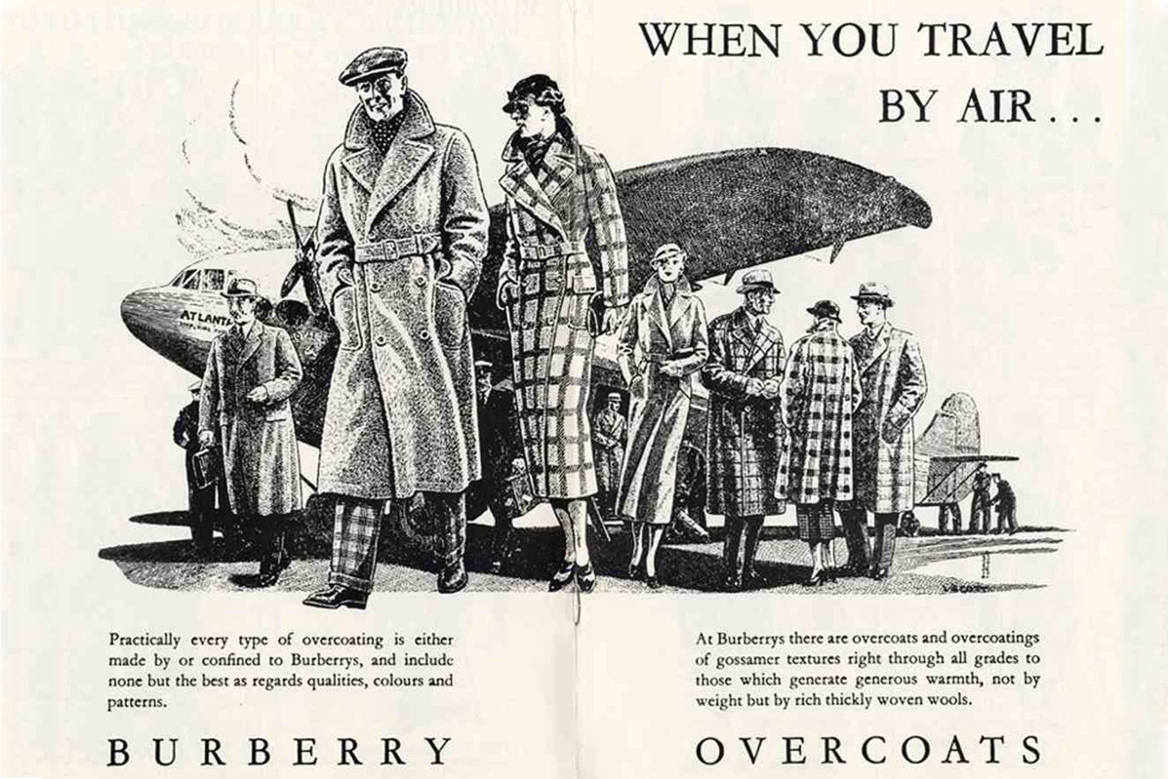 Реклама тренча Burberry времён Первой мировой войны