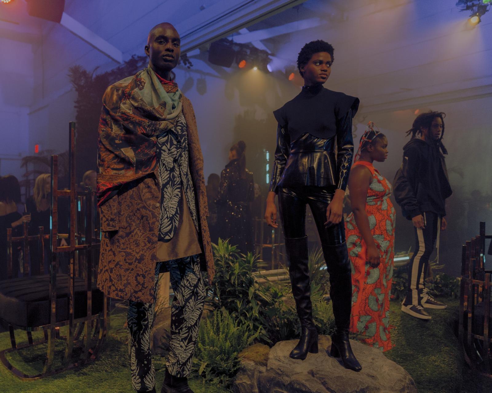 черная пантера показ на неделе моды ваканда