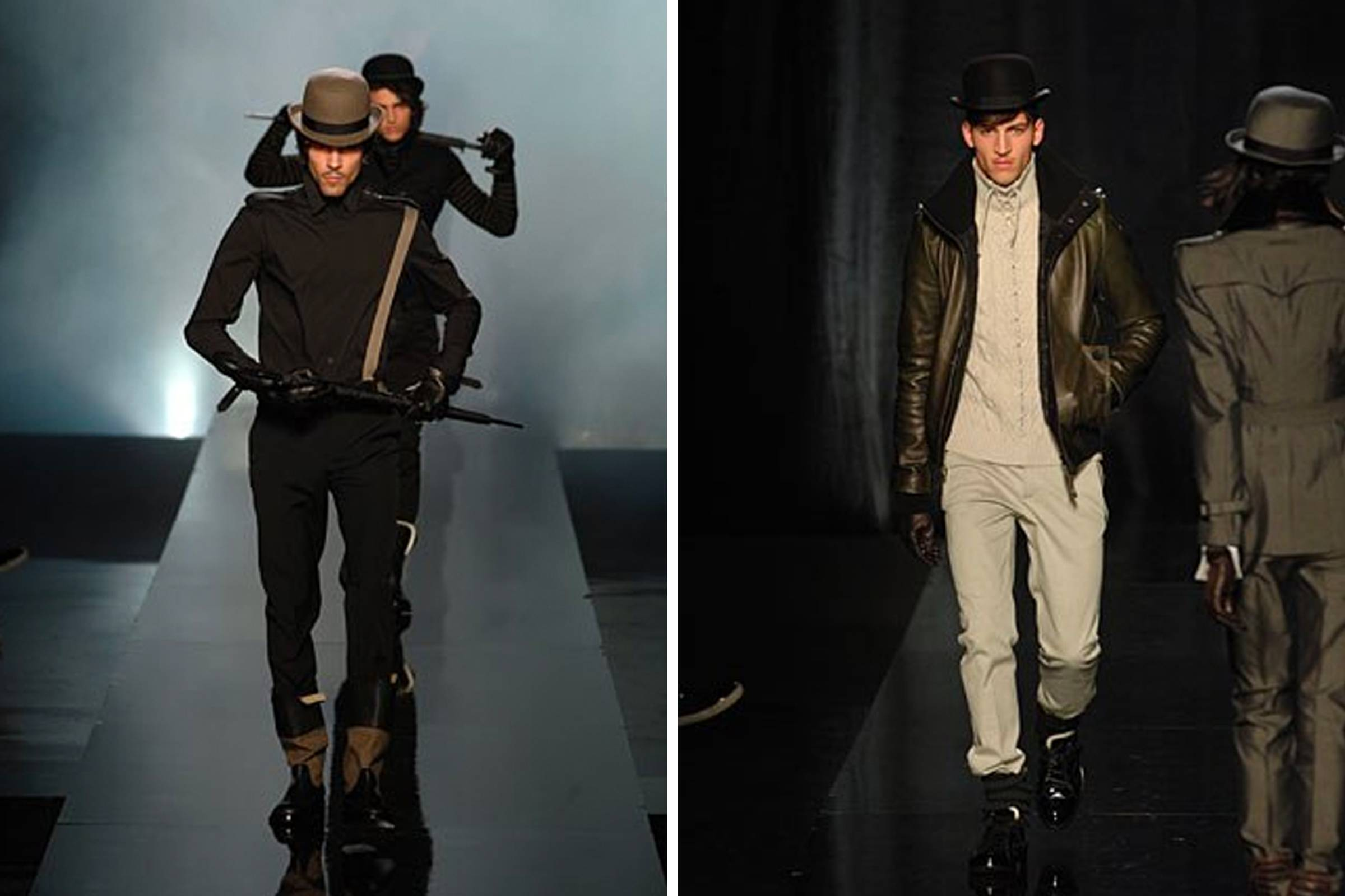 """Коллекция Jean Paul Gaultier Fall/Winter 2008, вдохновленная фильмом """"Заводной апельсин"""" Стэнли Кубрика"""