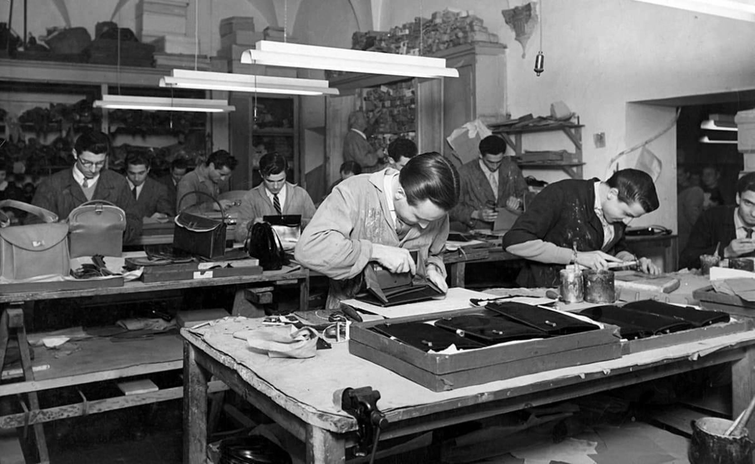 Первая мастерская Gucci, открытая Гуччио Гуччи во Флоренции (1920-е годы)