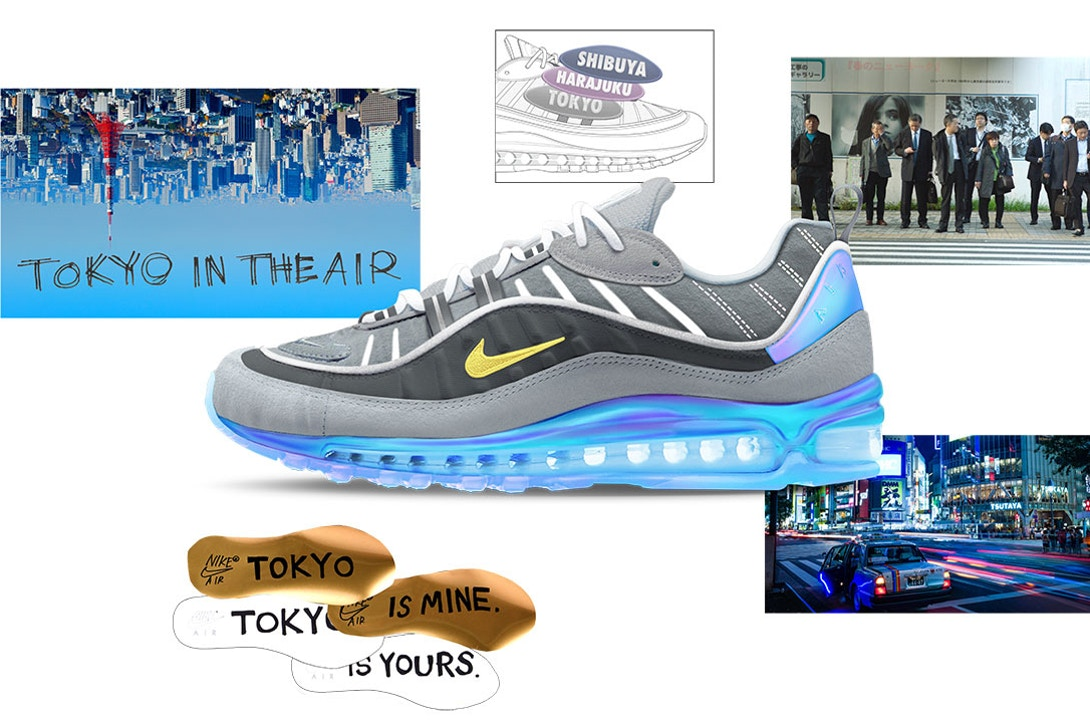 Air Max 98 Tokyo In The Air by Nari Kakuwa Air Design Nike