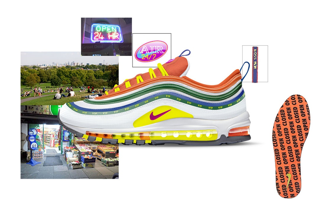 Air Max 97 London Summer of Love by Jasmine Lasode Air Design Nike