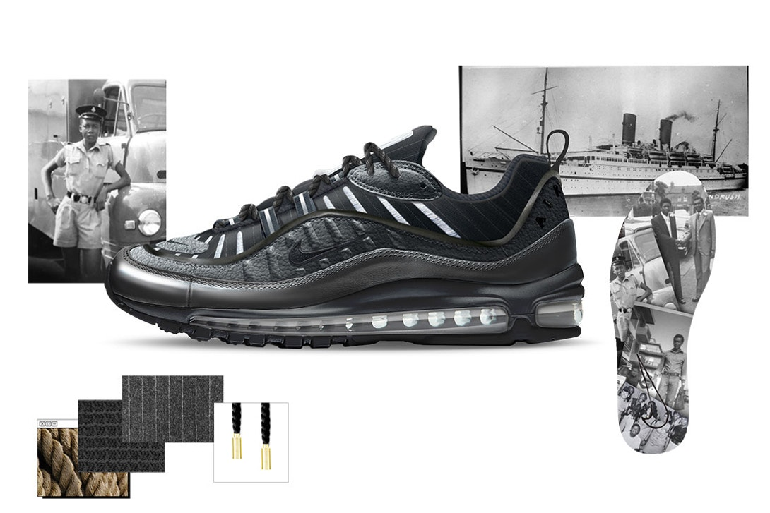 Air Max 98 Ode to Layou by Reuben Charters-Bastide Air Design Nike