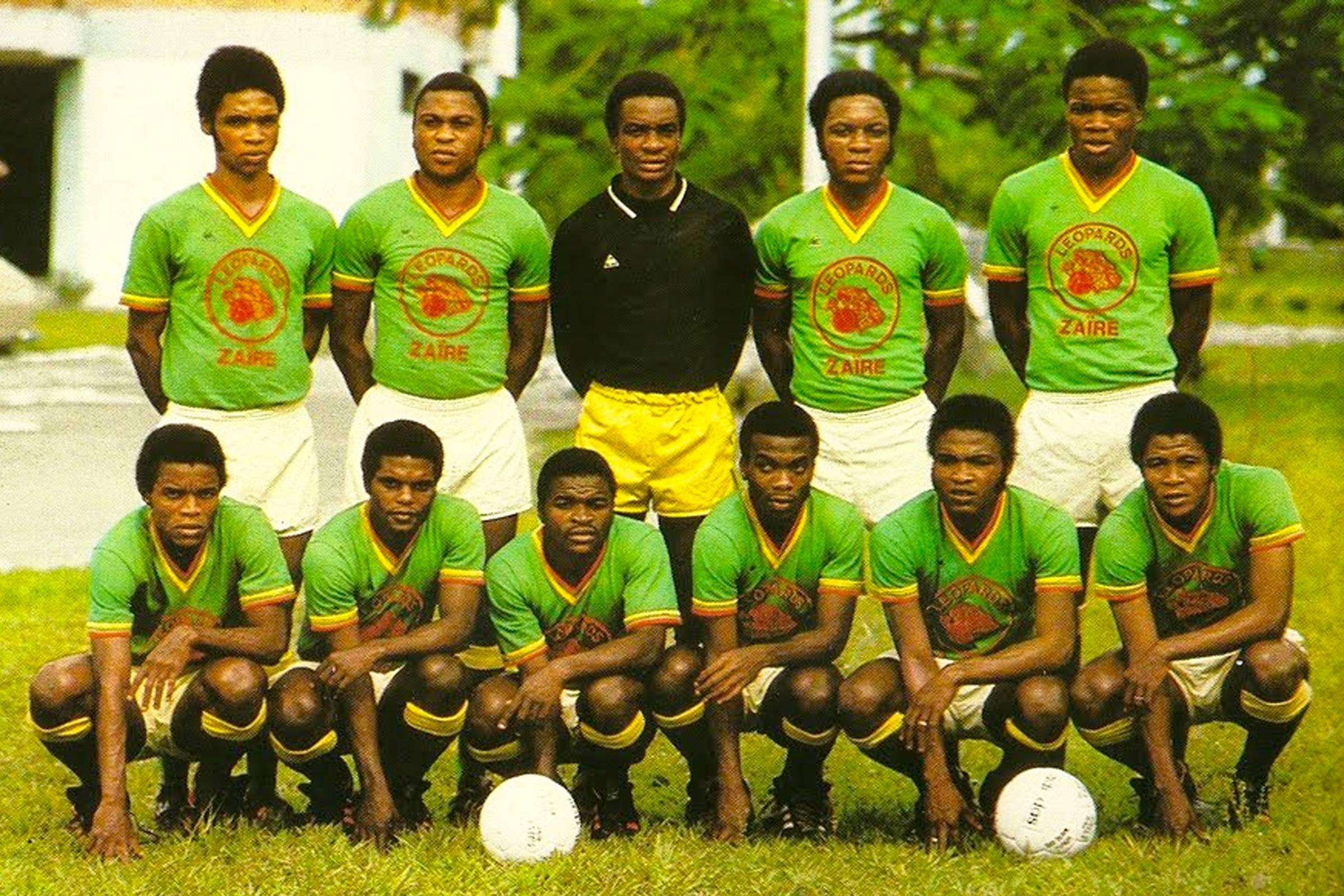 Домашняя форма сборной Заира 1974 года