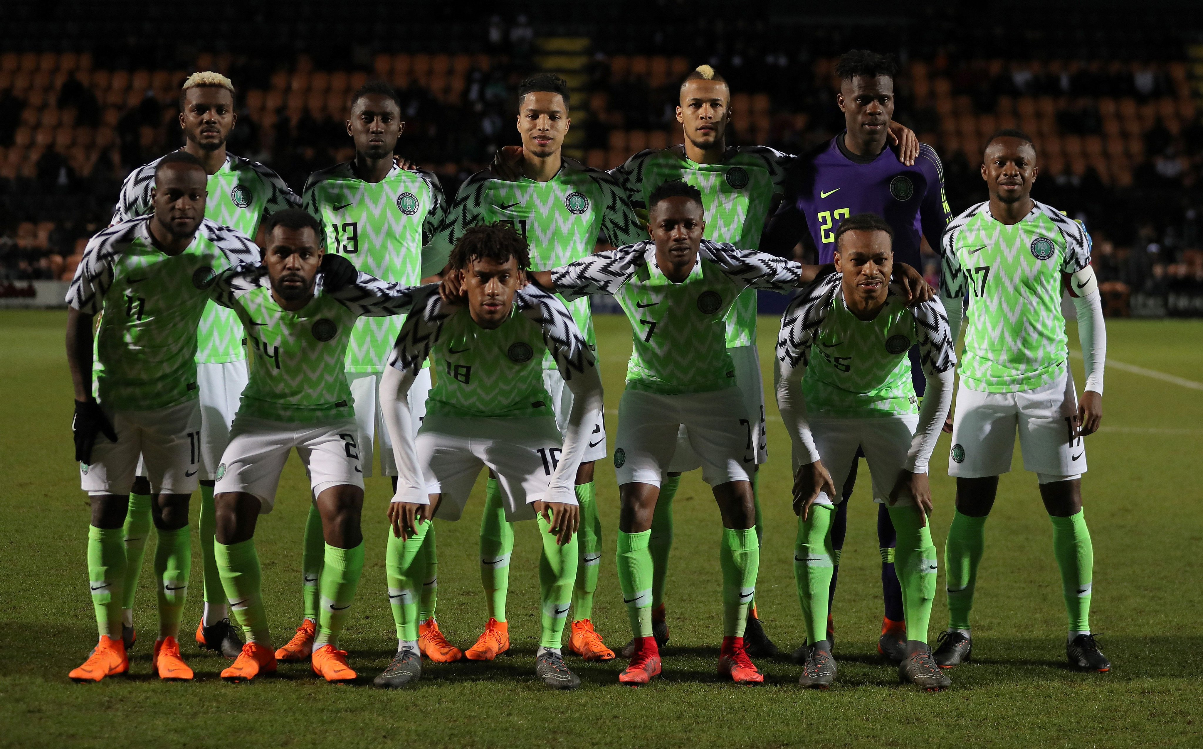 Домашняя форма сборной Нигерии 2018 года
