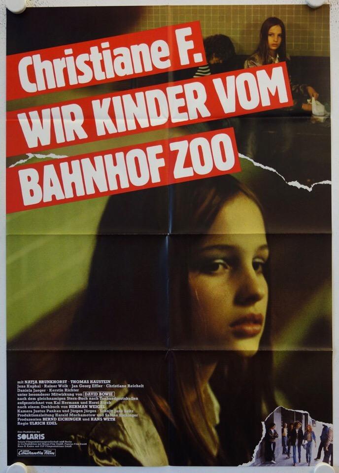 Оригинальный немецкий постер к фильму «Wir Kinder vom Bahnhof Zoo» Christiane F.