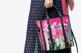 balenciaga bazar new york tote bag
