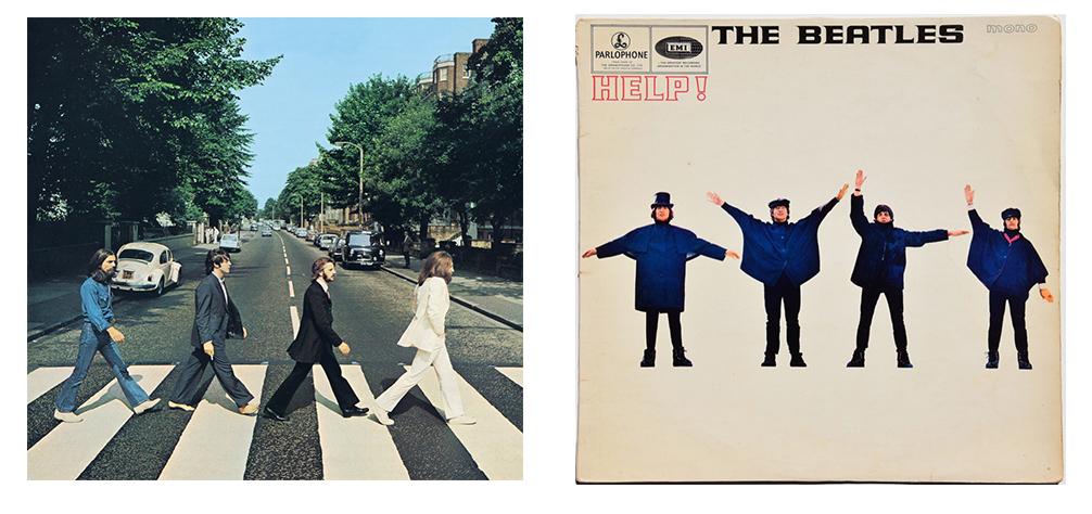 обложка альбома «Abbey Road» и «Help!»