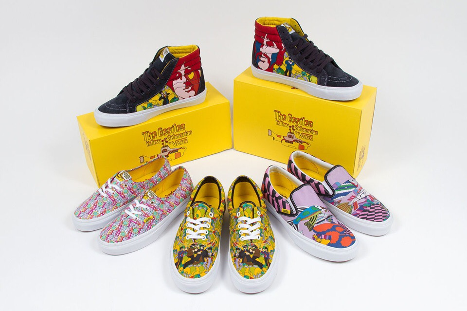 Vans x The Beatles «Yellow Submarine» 2014