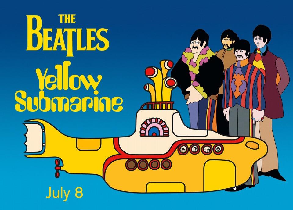постер к анимационному фильму «Yellow Submarine»