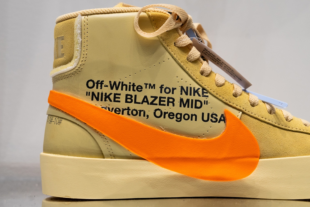 Детали кроссовок Off-White x Nike Blazer «All Hallows Eve»
