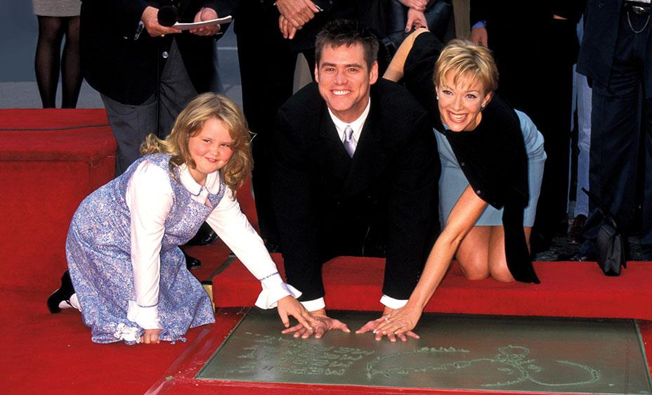 Джим Керри с дочерью Джейн и женой Лорен Холли