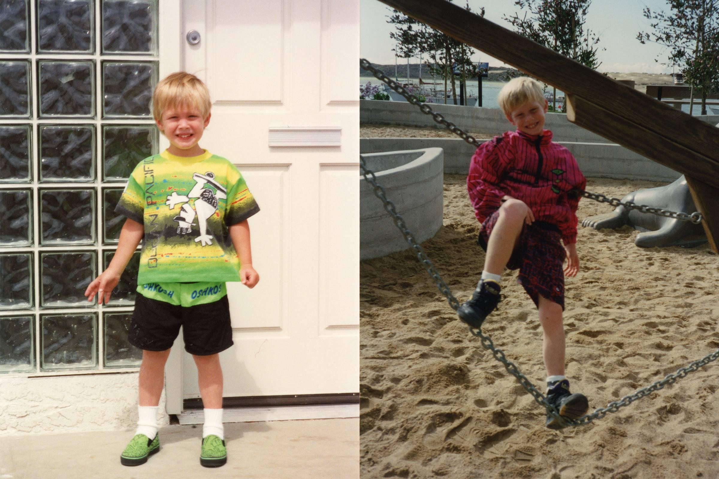 Мэтью Уильямс в детстве