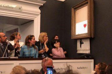 Картина Бэнкси «Девочка с шаром» самоуничтожилась после продажи