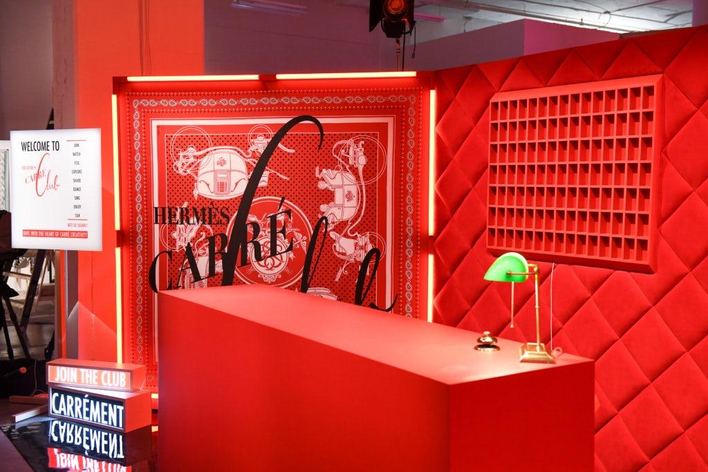 Поп-ап-стор Hermès Carré Club в Нью-Йорке