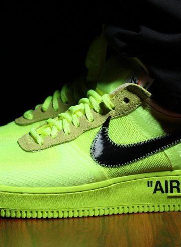 Подробности релиза Off-White x Nike Air Force 1 «Volt»
