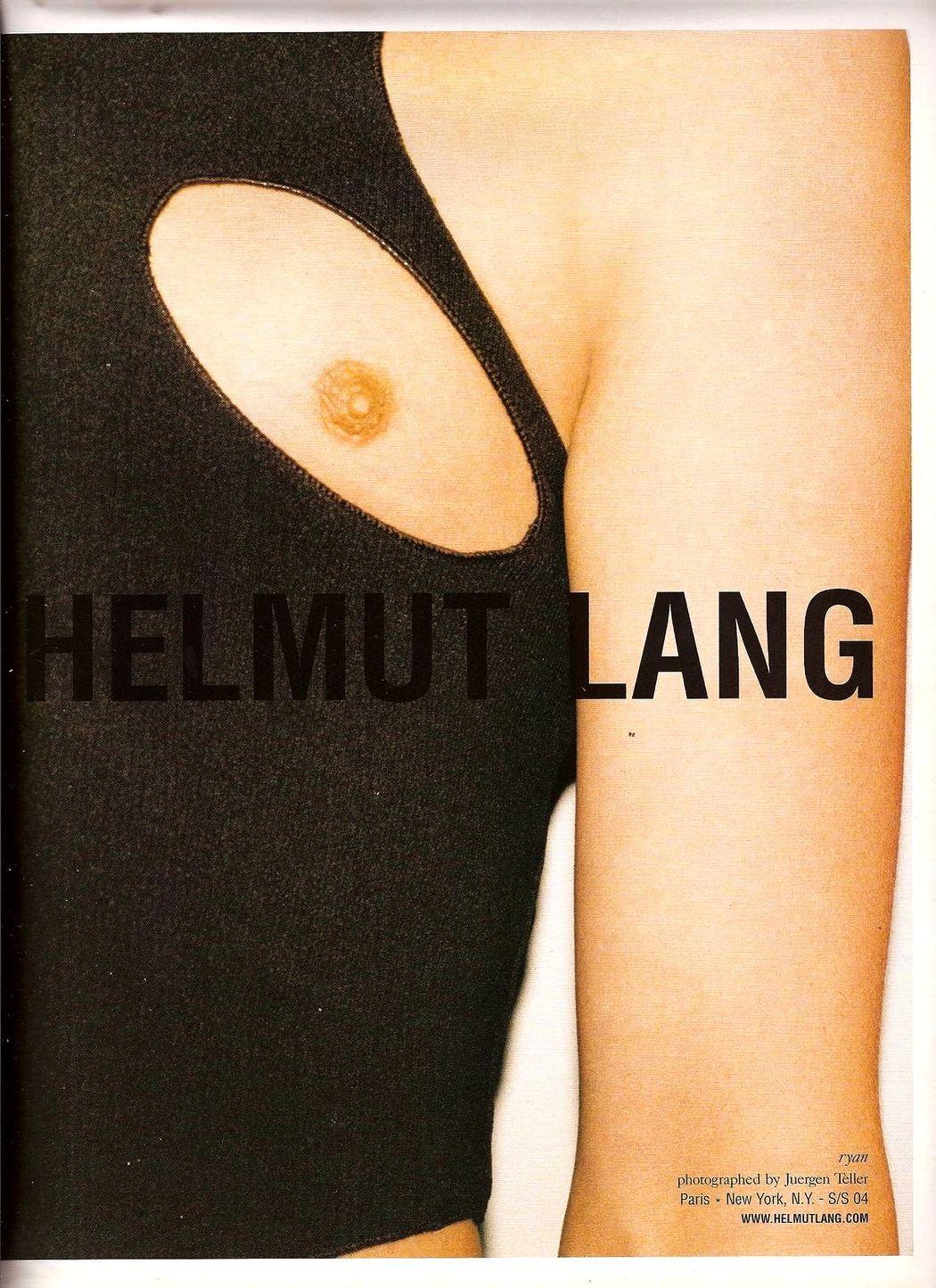 Архивная реклама Helmut Lang сезона Весна/Лето 2004