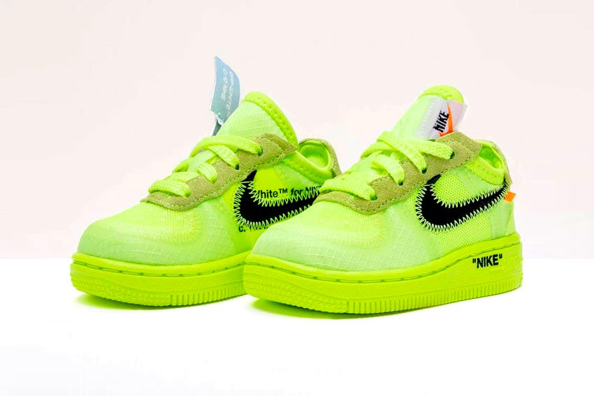 Где купить Off-White x Nike Air Force 1 «Volt»